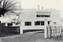 """""""Le Chateau"""" on Boars Tye Road. Built in 1927 by Frederick Macmanus of Sir John Burnet & Partners for one of the managers."""